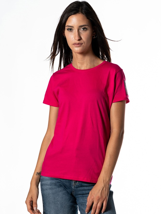 T-shirt 1814 Donna Patch Fucsia
