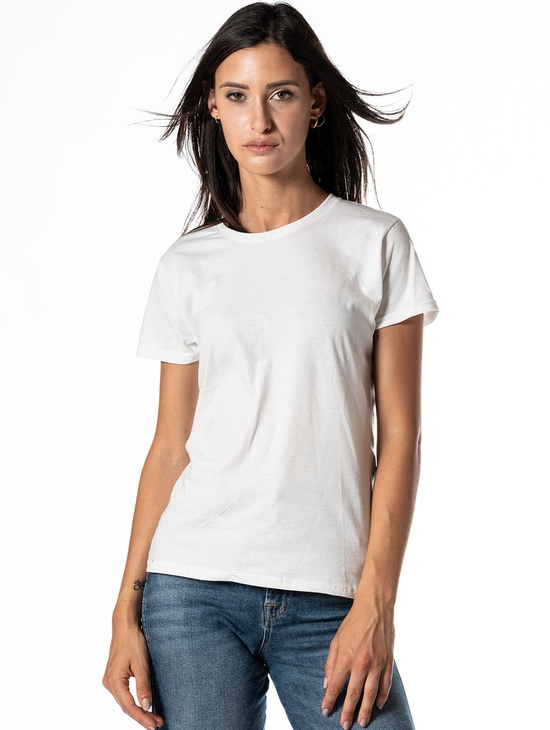 T-shirt 1814 Donna Patch Bianca